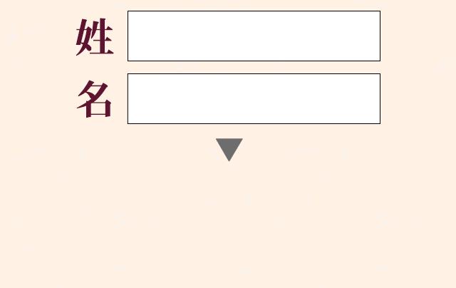 姓名の入力欄イメージ